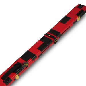 Peradon Wide Leather black Red Cue Case