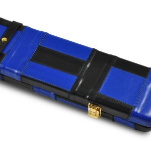 Peradon Black and Blue Patch Leather Case-CLOSE-UP