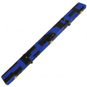 Peradon Black and Blue Patch Leather Case