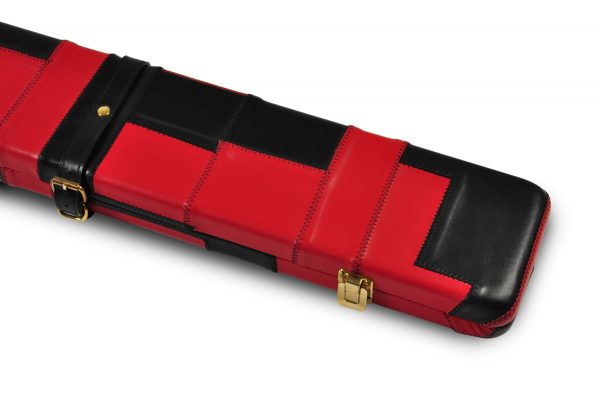 Peradon Black and Red Patchwork Leather Case -CLOSE-UP