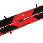 Peradon Black and Red Patchwork Leather Case-OPEN