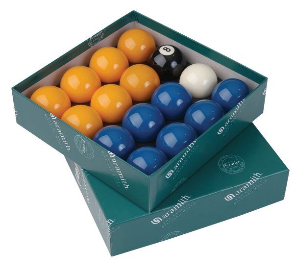 Aramith Premier Blue Yellow English Pool Balls